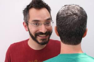 Myq Kaplan and Jimmy Pardo's beautiful hair.