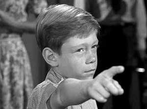 Billy Mumy on The Twilight Zone wishing someone to the cornfield